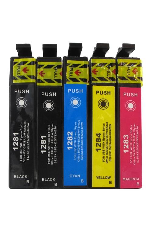 Pack de 5 cartouches d'encre EPSON T1285