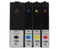 Pack de 4 cartouches d'encre LEXMARK 100XL / 14N1921E