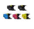 Pack de 5 cartouches d'encre BROTHER LC1240