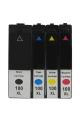 2 pack de 4 cartouches d'encre compatible LEXMARK 100XL / 14N1921E