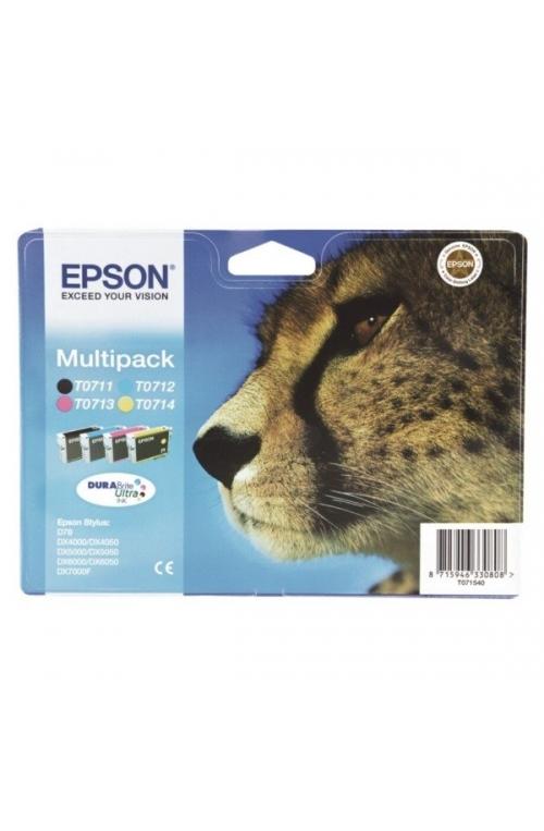 Pack de 4 cartouche d'encre EPSON T0715