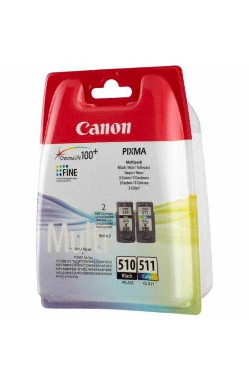 Pack de 2 cartouche d'encre original Canon PG-510 CL 511
