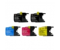 Pack de 5 cartouches d'encre BROTHER LC1280XL