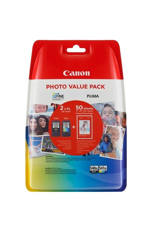Pack de 2 cartouche d'encre original Canon PG-540XL CL 541XL PHOTO VALUE PACK