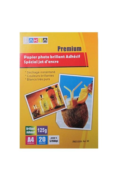 Papier photo brillant adhésif- A4 - 120 g - 20 feuilles